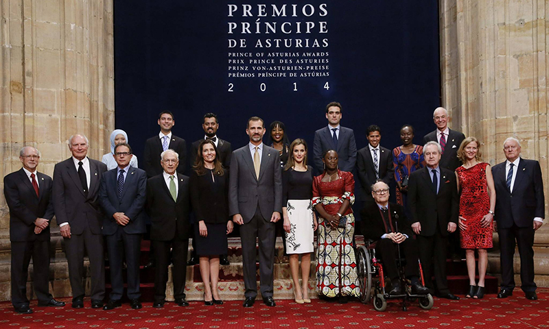 A group photo during the Prince of Asturias award ceremony in Oviedo, Spain. — Photo courtesy: Prince of Asturias Foundation/Shehzad Hameed Ahmad