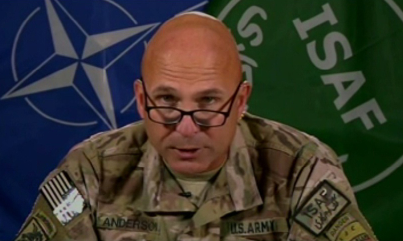 """""""Haqqanis are fractured. They are fractured like the Taliban is. That's based pretty much on the Pakistan [operations] in North Waziristan this entire summer-fall,"""" says Lt. Gen. Joseph Anderson, a senior commander for US forces in Afghanistan. — Videograb"""