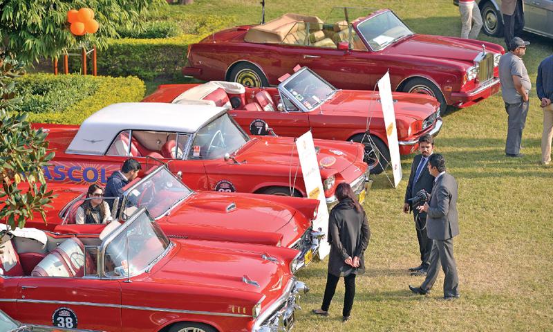Jaguars Cadillacs Minis And Alfas Strut Their Stuff Pakistan