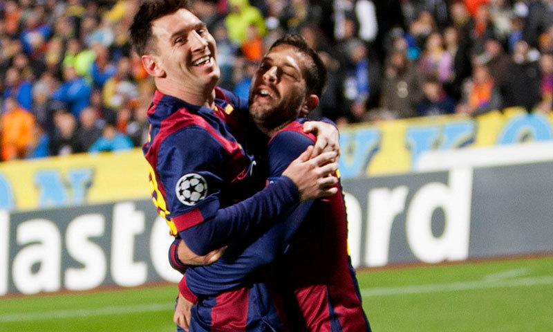 Messi treble sets Champions League goals record
