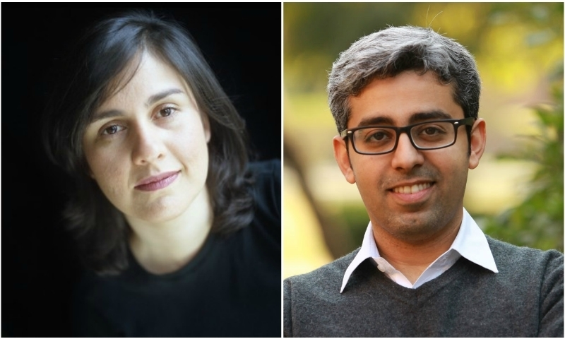 Kamila Shamsie (L) and Bilal Tanweer are among the five frontrunners for 2015 DSC Prize.