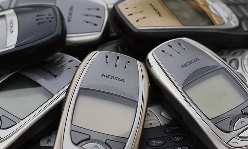 Illustration picture shows used cell phones.  — Reuters