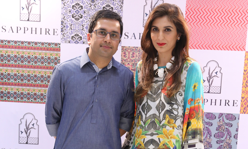 Nabeel Abdullah, Director at Sapphire with Creative Head Khadija Shah.  - Photo courtesy: Kashif-ud-Din.