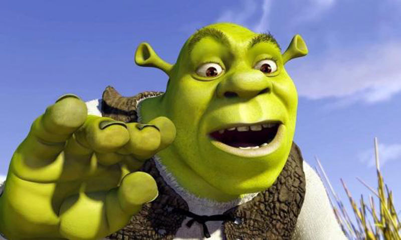 Shrek, with the voice of actor [Mike Myers], from a scene in the animated film ''Shrek'', which is presented at the 54th International Cannes Film Festival, May 12, 2001. - Photo courtesy: DreamWorks Pictures
