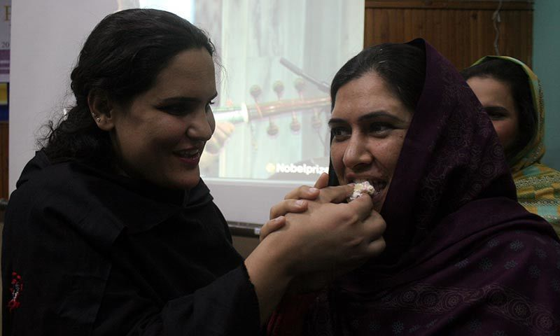 Malala Yousafzai's Nobel Peace Prize award was celebrated in Pakistan, including Peshawar. -Photo by Zahir Shah Sherazi