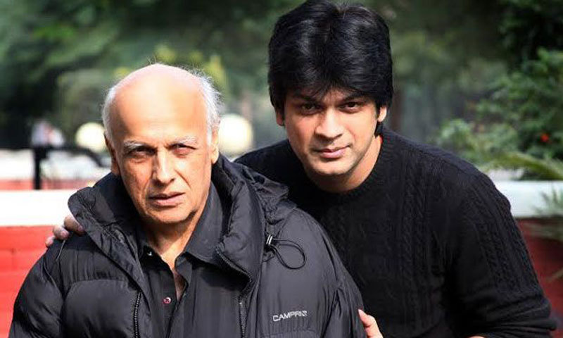 Director Mahesh Bhatt with his protégé Imran Zahid. - Photo courtesy: Deccan Chronicle