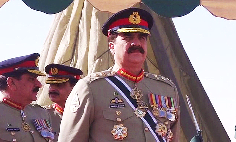 Chief of Army Staff (COAS) General Raheel Sharif. — DawnNews screengrab