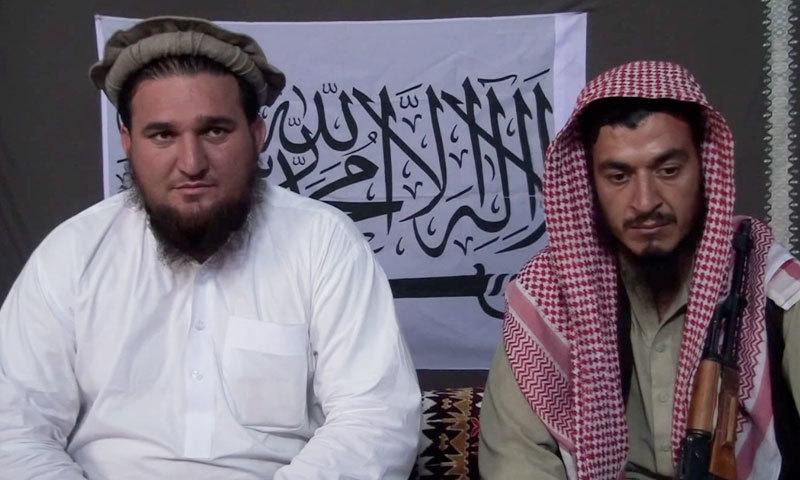 Jamaatul Ahrar spokesman Ehanullah Ehsan (L) speaks during an interview. – Photo Zahir Shah Sherazi/file