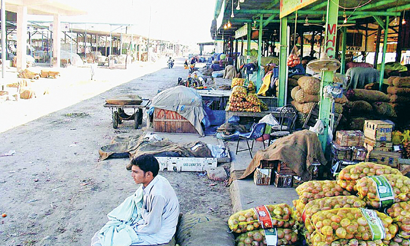 A Wholesale vegetable market in Karachi. It was noted that the project attempted to work along the entire value chain, which made tasks more difficult than if it had concentrated only on a few key links.—Online file photo