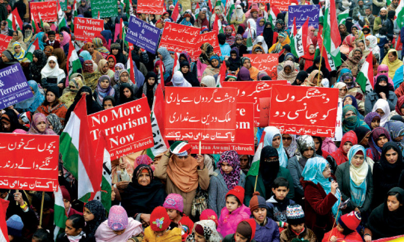 Pakistan Awami Tehreek rally on The Mall. – White Star