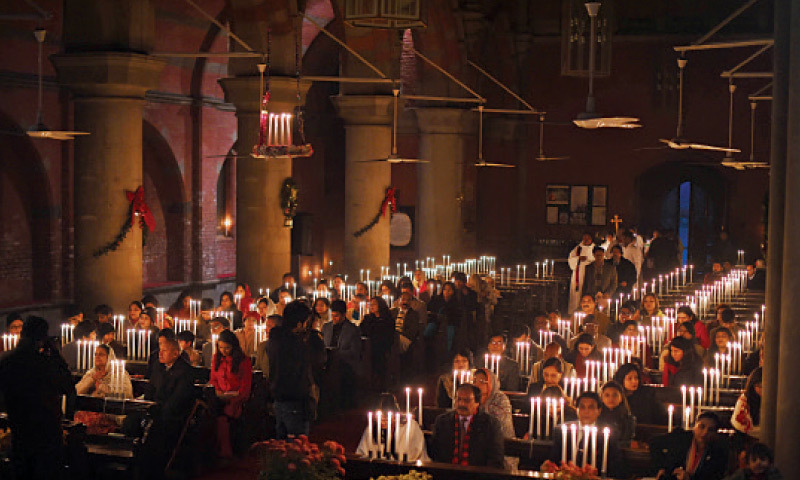 Carol service at the Cathedral Church which also prayed for Peshawar tragedy victims.—White Star