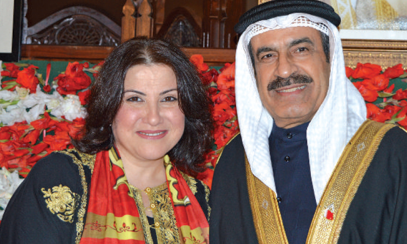 Ambassador of Bahrain Mohamed Ebrahim Mohamed Abdulqadar and Mrs. Abdulqadar on their country's 43rd national day in Islamabad.