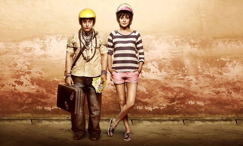 One of the official posters for 'PK' – Photo courtesy: bollyone.com