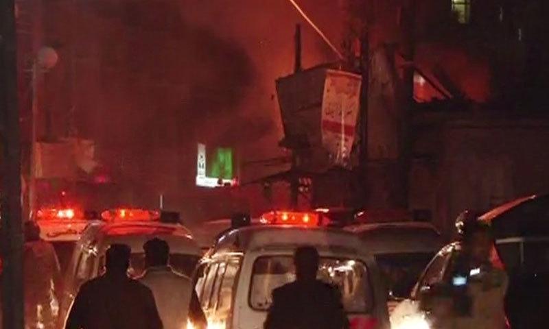 - DawnNews Screengrab показывает мощный взрыв в Кветте