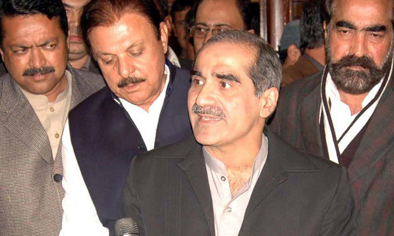Federal Minister for Railways, Khawaja Saad Rafique. — INP/File