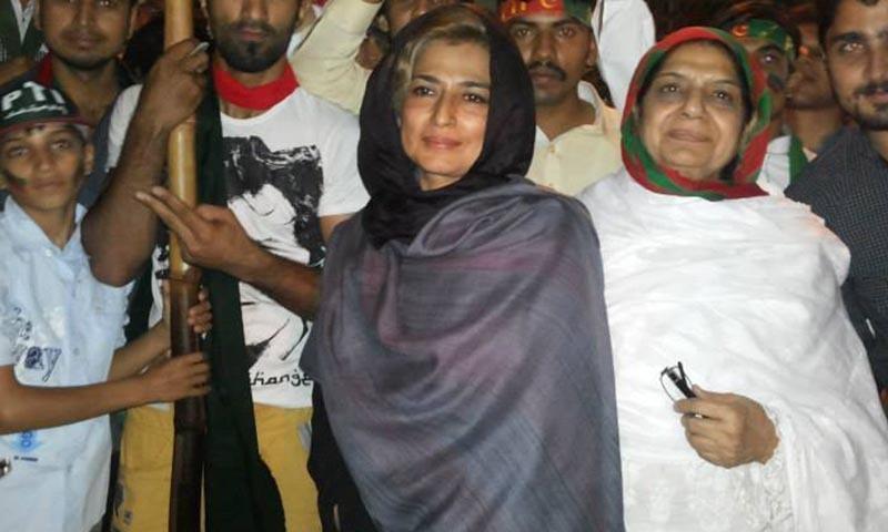 Hina Manzoor, former Punjab north secretary general (C).—Photo courtesy:Hina Manzoor, official facebook page