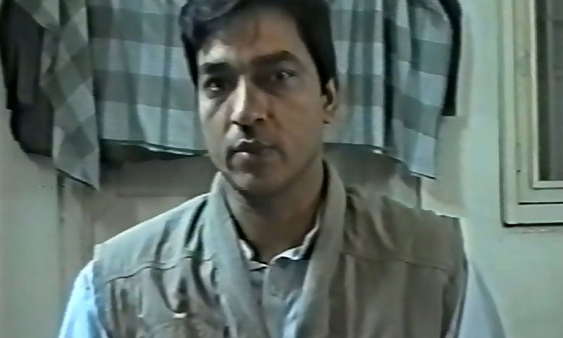 MQM activist Saulat Mirza. -YouTube screengrab