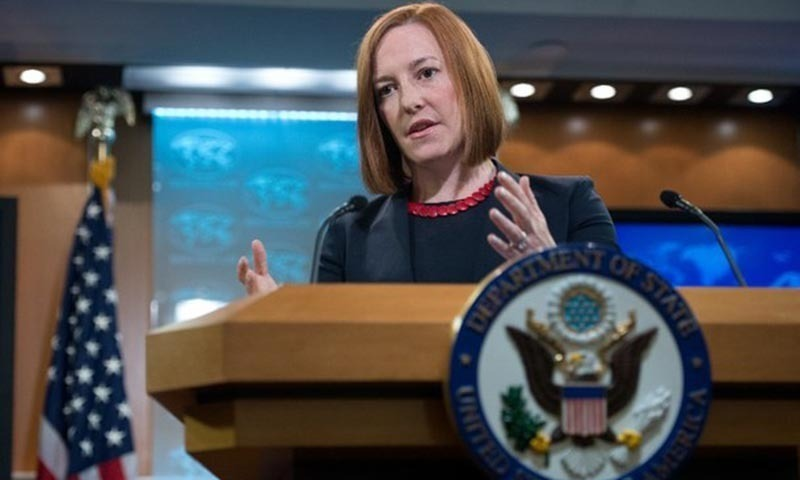 US State Department spokeswoman Jen Psaki speaks at the daily briefing at the State Department in Washington. — AFP/ File