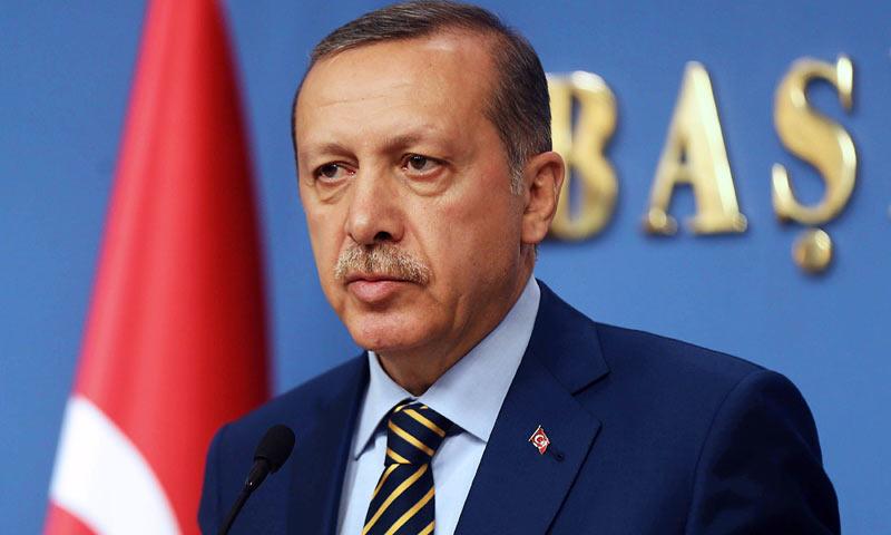 Turkish President Recep Tayyip Erdogan during a press conference in Ankara. —File/AFP