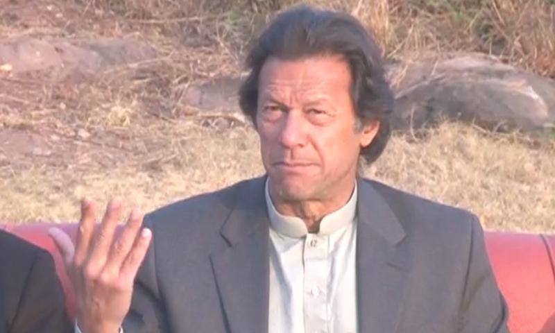 Tehreek-i-Insaf Chairman Imran Khan - DawnNews screen grab