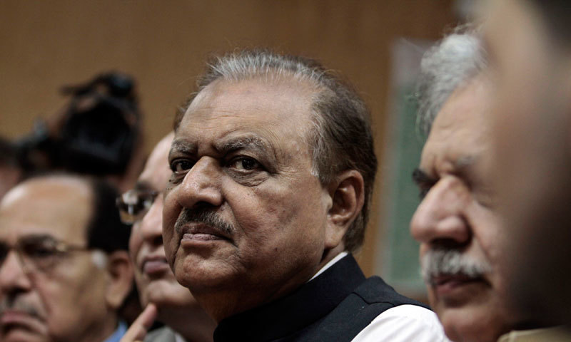 President Mamnoon Hussain.—Reuters/File<br/>President Mamnoon Hussain.—Reuters/File