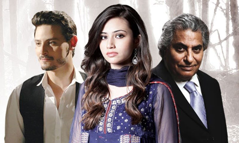 L to R: Osman Khalid Butt, Sana Javed and Usman Peerzada in ARY Digital's drama, 'Goya'. – Photo credit: Goya Facebook page