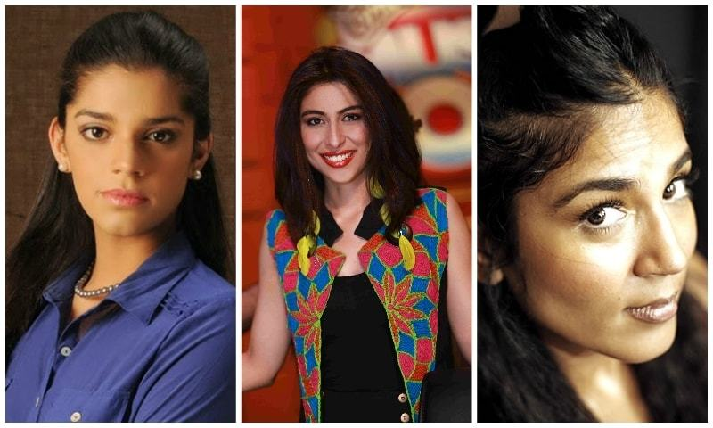 Sanam Saeed, Meesha Shafi and Ayesha Toor.