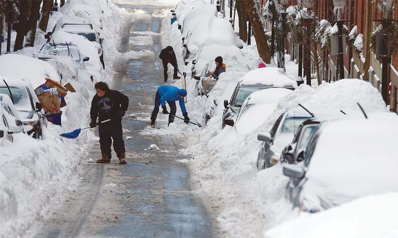 Us north east limps back to normality after blizzard