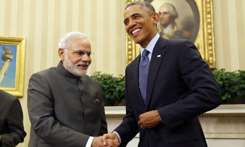 President Obama with Indian Premier Narendra Modi - Reuters/File