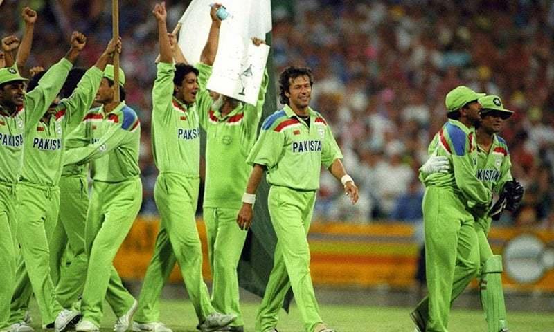 Pakistan's  1992 World Cup winning team. — Photo: Patrick Eagar
