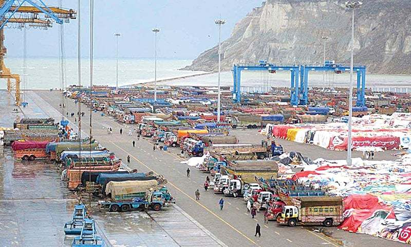 A view of the Gwadar Port.