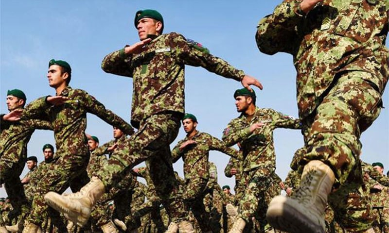 Afghan National Army cadets in Kabul. -AFP File