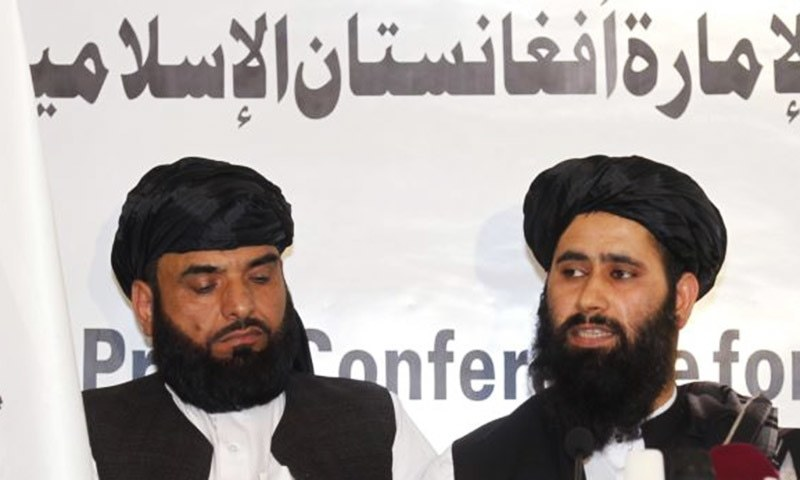 Afghan Taliban representatives in Qatar. — Reuters/file
