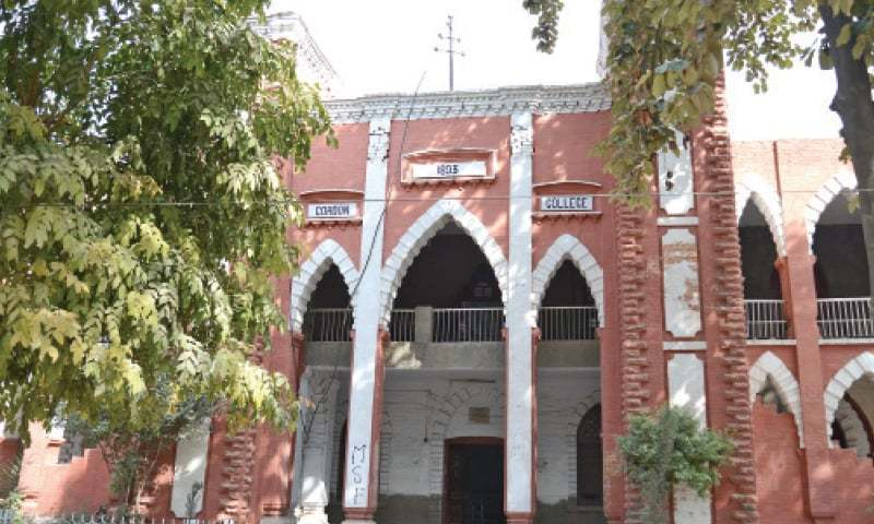 Gordon College near Liaquat Bagh in Rawalpindi.