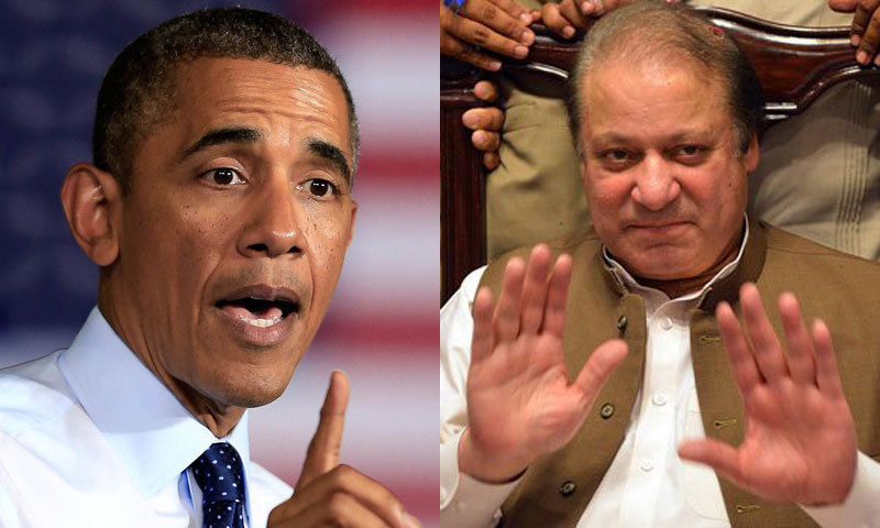 Obama called Nawaz in the evening as both the leaders discussed issues related to mutual interest and regional stability. -Photo File