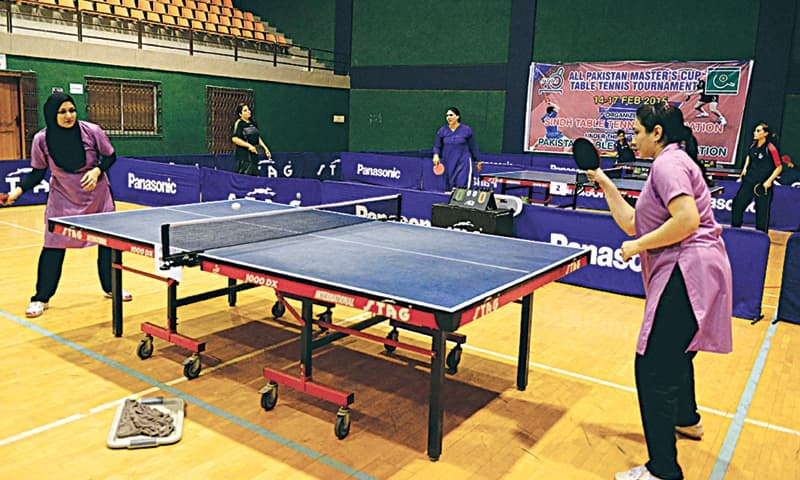 Shabnam ghalia set up final clash at masters tt for E table price in pakistan