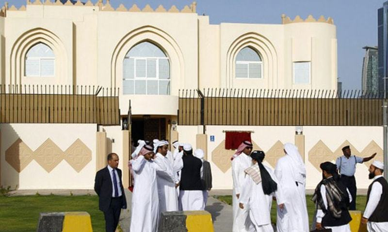 The Afghan Taliban office set up in Doha — AFP/ File Photo