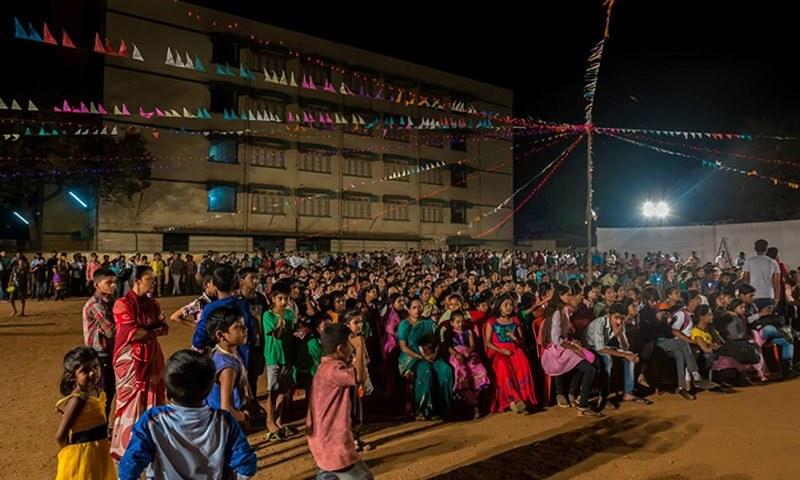 Inaugural performances. – Photo credit: Dharavi Biennale Facebook page