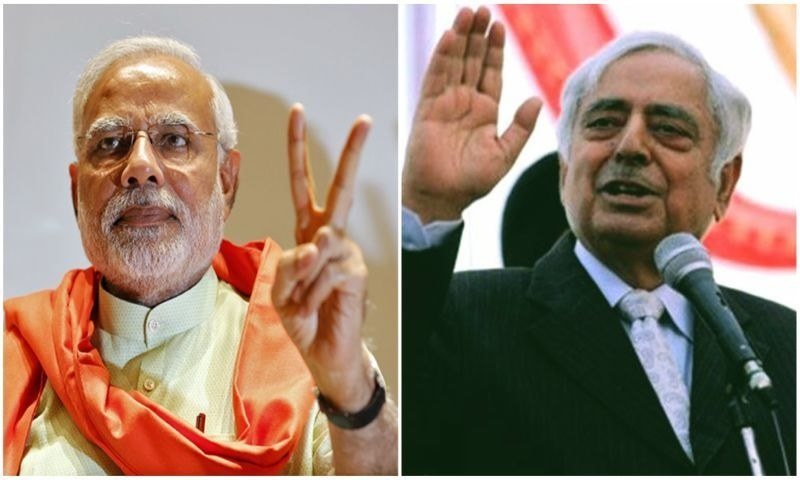 Indian Premier Narendra Modi and Peoples Democratic Party leader Mufti Mohammad Sayeed - Agencies