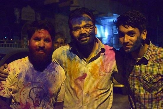 Holi celebrations underway at the Swami Narayan Temple, Karachi ─ Photo credit: Muzammil Afzal