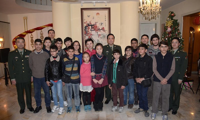 A second batch of students, who survived the deadly Peshawar school massacre, left for China last night for an educational cum recreational tour. — Photo courtesy: ISPR