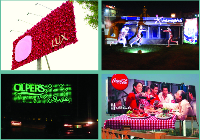 Lux grabbed attention with its 'floral' billboard displays, while Surf and Olper's used LED lights to create interest at night time. On the other hand, Coca-Cola had a dining table covered in a red checked table cloth jutting out.
