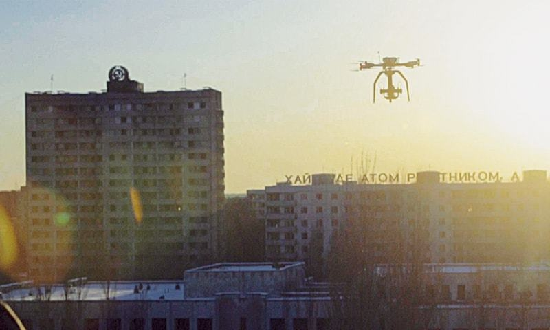 In The Fallout, a drone was used to shoot haunting footage at the site of the 1986 Chernobyl disaster.—The Washington Post