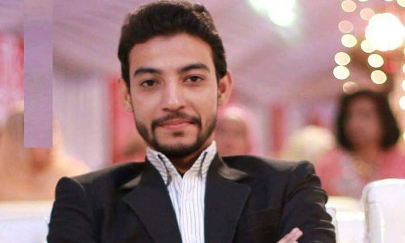 A picture showing Waqas Ali Shah of MQM's central information committee who the party says was killed in the raid. — Photo courtesy: Facebook