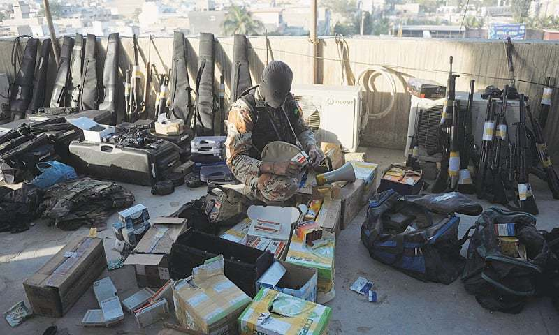 If Nato supplies that arrive in Karachi port do not contain weapons, then where did this cache come from?.—AFP/File