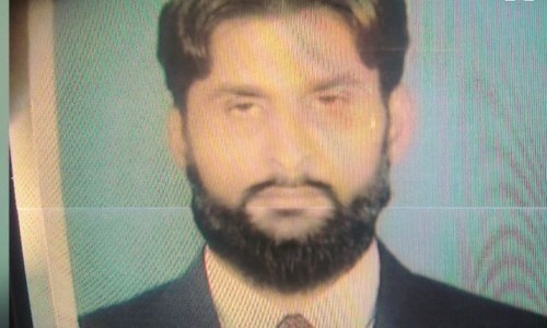 DawnNews screengrab shows one of the two men killed by a mob in Lahore.