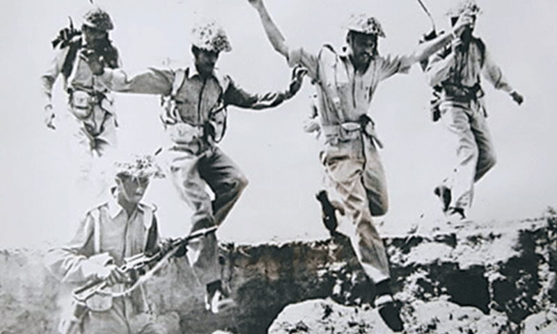 Pakistani soldiers during the 1965 war