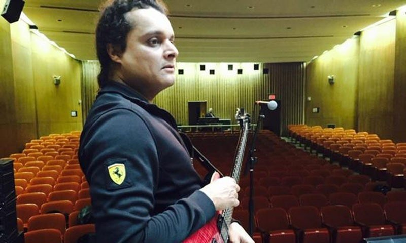 Meekal Hasan at a sound check at The University of Austin. — Photo: Twitter
