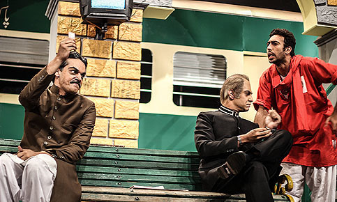 This representative image shows a scene from play 'Sawa 14 August'. — Photo by Shameen Khan/File