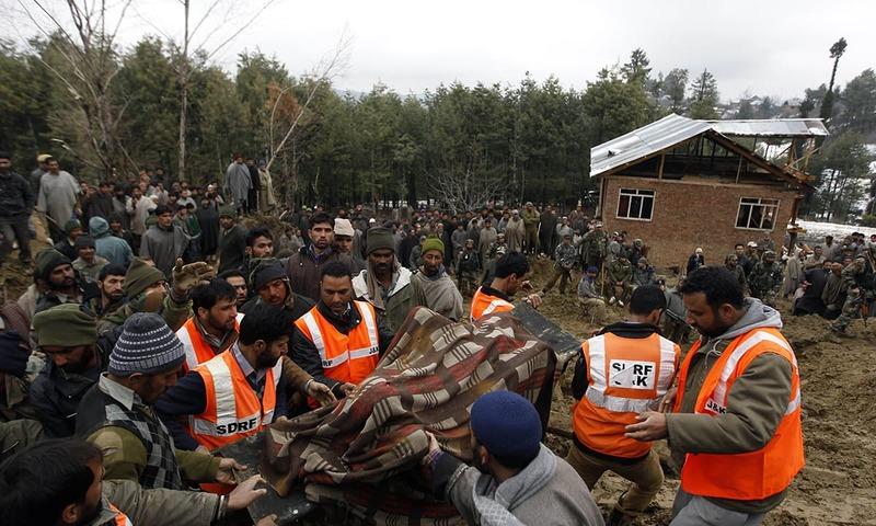 کشمیر میں سیلاب سے چھ ہلاکتیں